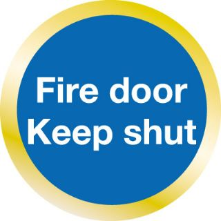 Fire Door Keep Shut Wall & Door Sign
